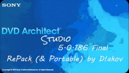 Sony DVD Architect Studio 5.0.186 Final RePack & Portable by D!akov (Multi/Rus) (2013)